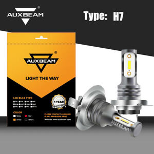 Auxbeam H7 Led Headlight Fog Bulbs Lamp Conversion Kit Super High Low Beam 6000k