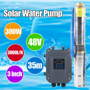 300w Submersible Deep Well Water Pump 0 4 Hp Bore Shallow Off Grid Hole 3000l h