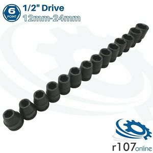 Blue Point 1 2 Impact Sockets 12mm 24mm As Sold By Snap On