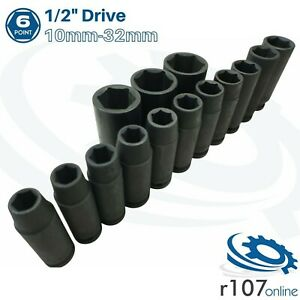 Blue Point 1 2 Deep Impact Sockets 10mm 32mm As Sold By Snap On