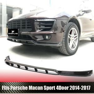 Carbon Fiber Front Bumper Spoiler Lip Splitter Fit For Porsche Macan 2014 2017