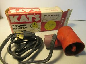 Kats Engine Heater Vintage Old Car Part Kh8 New Open Box Free Usa Shipping