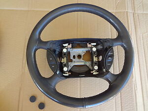 2003 2004 Mustang Cobra Steering Wheel Charcoal Leather Oem Sku Ee126
