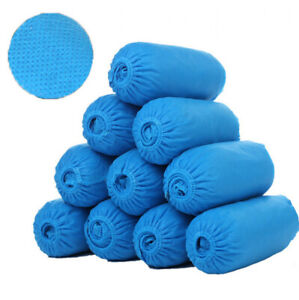 100pcs Disposable Boot Shoe Covers Pe Non slip And Protective Corona Germs