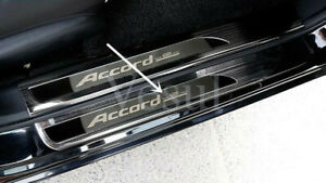 Fit For Honda Accord 2013 2017 Stainless Outer Door Sill Scuff Plate Cover Black