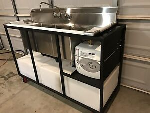 Mobile Concession Portable Restaurant Sink And Hand Wash Stations
