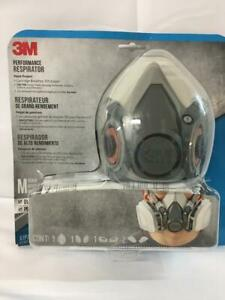 Sealed 3m Performance 6200 Medium Half Face Respirator 6001 Filters Exp 01 2025