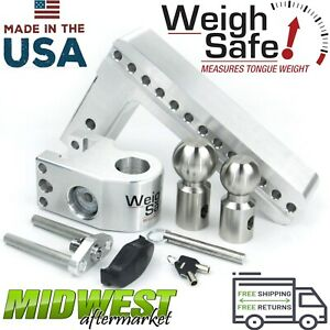 Weigh Safe 10 Drop Hitch W 2 2 5 16 Stainless Steel Balls And 2 5 Shaft