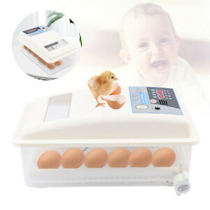 24 Egg Incubator Hatcher Automatic Digital For Bird Chicken Duck Poultry Turning