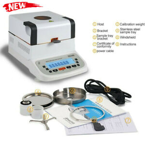 Electronic Moisture Analyzer Halogen Moisture Tester Measuring Meter Lcd Screen