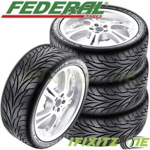 4 Federal Ss595 225 35zr18 83w Ultra High Performance uhp Tires