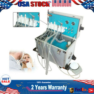 Dental Portable Delivery Unit W Air Compressor 2h Curing Light Scaler Moveable
