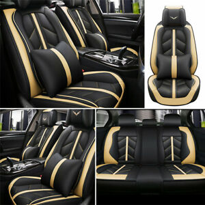 Deluxe Car Seat Cover 5 Sit Cushion Front Rear Car Car Truck Parts Accessories