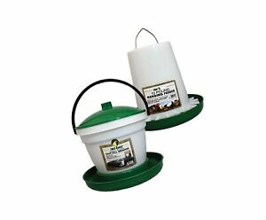 Manna Pro Chicken Waterer Feeder Combo 10lb Feeder 3 5 Gal Top Fill Water D