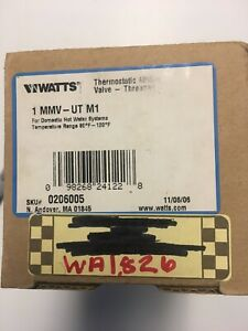 Watts Thermostatic Mixing Valve Threaded 1 Mmv ut M1 New Free Shipping