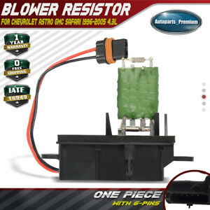 Blower Motor Resistor For Chevrolet Astro Gmc Safari 1996 2005 Front Blower Only