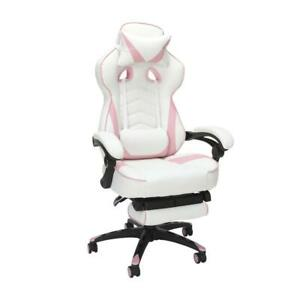 Respawn 110 Racing Style Gaming Chair With Footrest In Pink