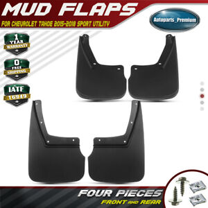 4pcs Mud Flaps Mud Splash Guards For Chevrolet Tahoe 2015 2018 Suv Front Rear