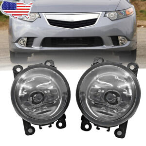 2x Fog Light Lamp For Subaru Forester 2014 2018 Replacement Clear Lens Us Seeler