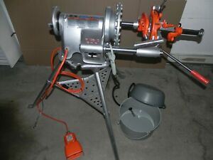 Ridgid 300 Threader With Carriage Reamer Cutter Die Head Oiler Rigid 115 V
