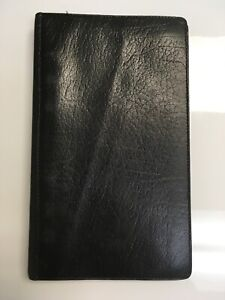 Vintage Filofax Black Leather Planner Binder Diary Made In England Nyc Map