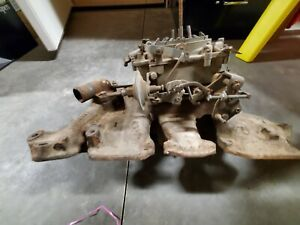 1964 Olds Starfire 394 4 Barrel Intake Manifold And Carburetor 345 Hp