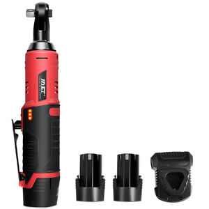 Hyet Cordless 3 8 Electric 12v Ratchet Wrench Tool Set W 2pcss Battery Charger