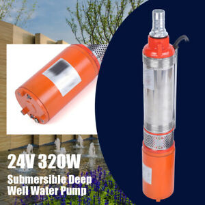 25m 24v Solar Water Pump Submersible Pumping Head Deep Well High Quality 320w Us