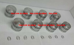 Cast Pistons Set 8 Ford 239 Flathead V8 1939 53 080 With Rings Gasket Set