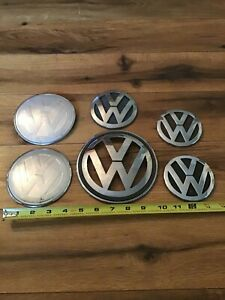 Volkswagen Car Emblems Lot Of 3