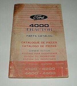 Vintage Ford Tractor 4000 Series Original Parts Catalog owners Edition very Nice