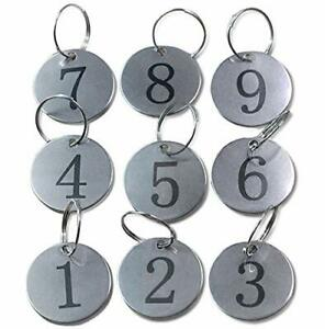 Metal Round Numbered Tags Key Tags Id Tags 1 18 Inches 1 50