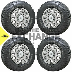 18 Silverado 2500 3500 Truck Black Wheels Tires Factory Oem 2020 2021 96624