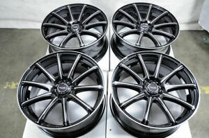 18 Wheels Acura Legend Mdx Audi Tt Honda Civic Lexus Is350 Black Rims 5x114 3