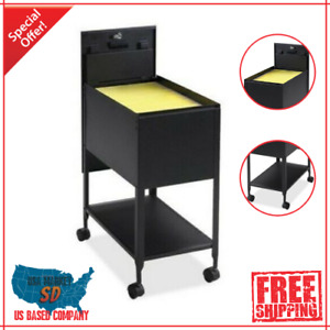 Rolling File Cart Drawer Metal Mobile Lateral Filling Cabinet Folder Organizer