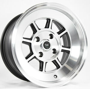 15x9 Rota Shakotan 4x100 0 Full Royal Black Rims New Set