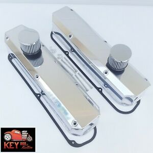 Small Block Mopar Fabricated Polished Aluminum Valve Covers Chrysler 318 340 360