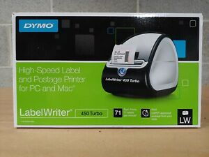 Dymo Labelwriter 450 Turbo Thermal Label Printer Inkless Barcode Shipping Pc Mac