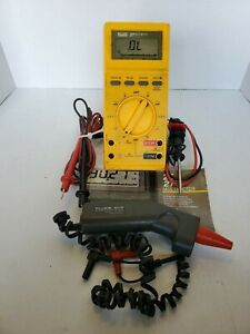 Fluke 27 Multimeter With 80t ir Temp Probe Manual And Accessories