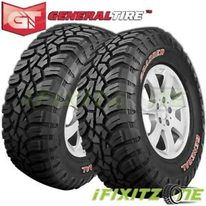 2 General Grabber X3 37x13 50r20lt 127q 10 ply Red Letter Jeep Truck Mud Tires