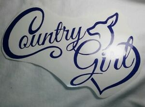 Country Girl Southern Dixie Hunting Fishing Mud Car Window Vinyl Decal Sticker
