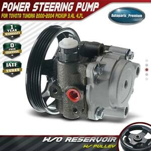 Power Steering Pump With Pulley For 2000 2004 Toyota Tundra Base Sr5 3 4l Pickup