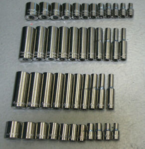 Craftsman 44pc Socket Set Standard Deep 1 4 Drive Sae Metric Mm 6 Point
