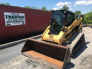 2010 Caterpillar 297c Compact Track Skid Steer Loader W Cab 2spd High Flow