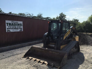 2016 New Holland C232 Compact Track Skid Steer Loader W Cab Only 900hrs Clean