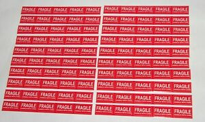 100 Pcs1 37 0 78 Inc Fragile Stickers Handle With Care Stickers Shipping Labels