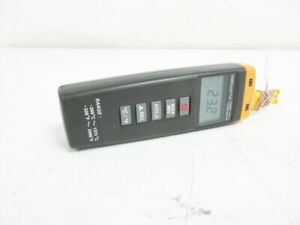 Omega Hh308 Mini Thermometer K Type Thermocouple Input 2 Channel 328 To 2498 f