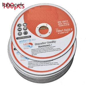 100 Pack 6 x 045 x7 8 Cut off Wheel Metal Stainless Steel Cutting Discs