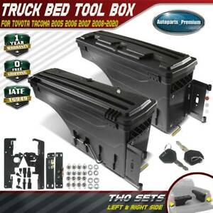 2x Truck Bed Storage Box Toolbox For Toyota Tacoma 2005 2020 Driver