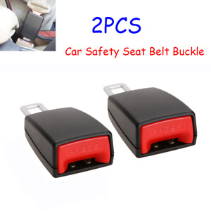 2pcs Universal Car Seat Belt Plug Buckle Safety Clip Extender Alarm Canceller Us